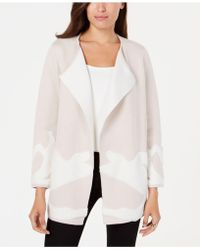 Alfani - Abstract-pattern Double-knit Sweater Coat, Created For Macy's - Lyst