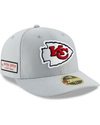 eaeacf99b8f KTZ - Kansas City Chiefs Crucial Catch Low Profile 59fifty Fitted Cap - Lyst