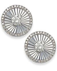 Macy's - Diamond Stud Earrings In 14k White Gold (1/4 Ct. T.w.) - Lyst