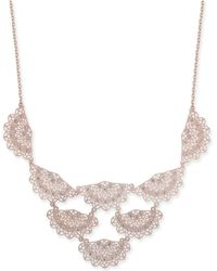 """INC International Concepts - I.n.c. Rose Gold-tone Crystal Filigree Fan Statement Necklace, 18"""" + 3"""" Extender, Created For Macy's - Lyst"""