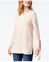 Style & Co. | Tie-sleeve Sweater, Created For Macy's | Lyst