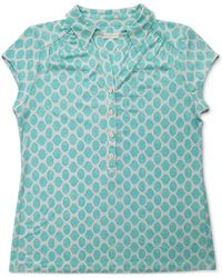 Charter Club Iconic Abstract-print Polo Shirt, Created For Macy's - Blue
