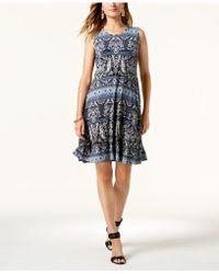 2efcacba748 Lyst - Style   Co. Petite Printed Flounce Dress