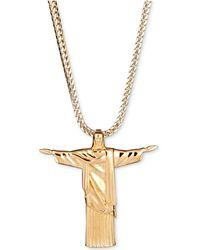 "Macy's - Christ 24"" Pendant Necklace In 18k Gold-plated Sterling Silver - Lyst"