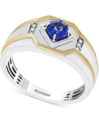 Effy Collection - Men's Tanzanite (3/8 Ct. T.w.) And Diamond Accent Two-tone Ring In 14k Gold And White Gold - Lyst