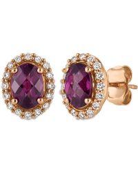 Le Vian - Rhodolite Garnet (1-5/8 Ct. T.w.) And Diamond (1/4 Ct. T.w.) Stud Earrings In 14k Rose Gold - Lyst
