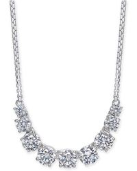 "Danori - Silver-tone Crystal Statement Necklace, 14"" + 4"" Extender, Created For Macy's - Lyst"