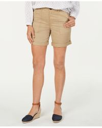 Style & Co. Double-pocket Cuffed Shorts, Created For Macy's - Natural