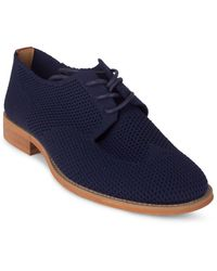 Wanted Navy Babe Knit Derby Shoes - Blue