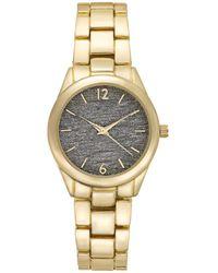 INC International Concepts Inc Gold-tone Bracelet Watch 35mm, Created For Macy's - Metallic