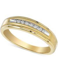 Macy's - Men's Diamond Band (1/10 Ct. T.w.) In 10k Gold - Lyst