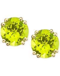 Macy's - 14k Gold Peridot Stud Earrings (4 Ct. T.w.) - Lyst