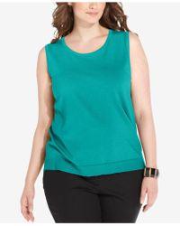 August Silk - Plus Size Sleeveless Shell - Lyst