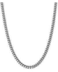 "Giani Bernini - Cuban Link 22"" Chain Necklace In Sterling Silver - Lyst"