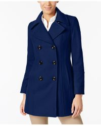 Anne Klein - Double-breasted Wool-blend Peacoat - Lyst