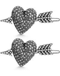 Steve Madden - Arrow And Heart Hair Pins - Lyst