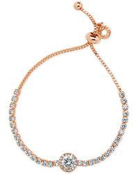 Anne Klein - Silver-tone Multi-crystal Slider Bracelet - Lyst