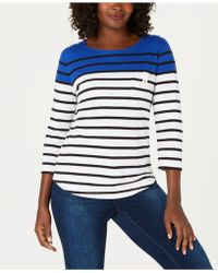 Karen Scott - Colorblocked Button-shoulder Top, Created For Macy's - Lyst