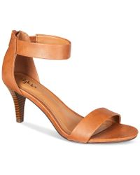 77b8ce1c0f50 Lyst - Jessica Simpson Athens Two-piece Platform Sandals in Red