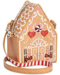 Betsey Johnson Gingerbread House Crossbody (tan) Cross Body Handbags - Multicolour