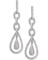 Effy Collection - Diamond Teardrop Drop Earrings (7/8 Ct. T.w.) In 14k White Gold - Lyst