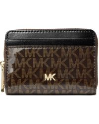 Michael Kors - Michael Signature Glossy Zip Around Coin Card Case, Created For Macy's - Lyst