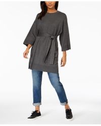 Eileen Fisher - ® Belted 3/4-sleeve Tunic - Lyst