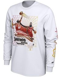 a8db100e4 Nike - James Harden Houston Rockets Time Warp Player Photo Long Sleeve T- shirt -
