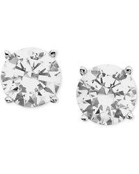 Macy's - Certified Colorless Diamond Stud Earrings In 18k White Gold (3/4 Ct. T.w.) - Lyst