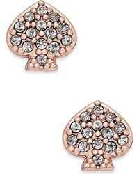 Kate Spade | Pavé Signature Spade Stud Earrings | Lyst