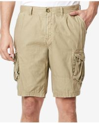 Buffalo David Bitton Men's Harav Cargo Shorts - Natural