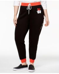Hybrid - Plus Size Never Basic Minnie Mouse Sweatpants - Lyst