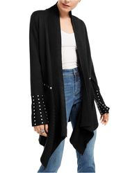INC International Concepts Inc Studded Cardigan Sweater, Created For Macy's - Black