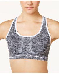 Calvin Klein - Top, Reversible Racerback Sports Bra - Lyst