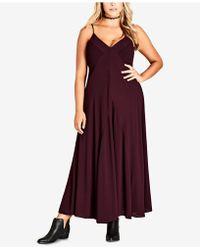 City Chic - Trendy Plus Size Boho-chic Maxi Dress - Lyst