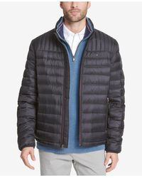 Tommy Hilfiger Down Quilted Packable Logo Jacket - Black