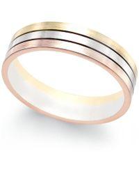 c05ae439f Swarovski Rhodium-plated Pavé Tri-color Crystal Ring Set in Metallic ...