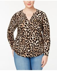 a5eb3d8eac0 Lyst - Inc International Concepts Plus Size Square-neck Top in Pink