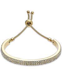 Alfani Pavé Curved Bar Slider Bracelet, Created For Macy's - Metallic