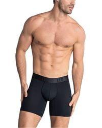 Leo Long Athletic Boxer Brief - Black