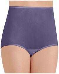 Vanity Fair Perfectly Yours Ravissant Nylon Full Brief Underwear 15712, Extended Sizes - Purple