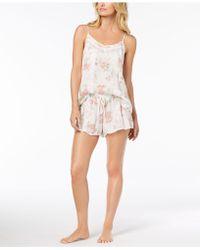 1bd5445aba Linea Donatella - Day Dream Lace-trim Pajama Short Set - Lyst