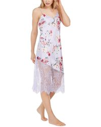 INC International Concepts Inc Floral-print Lace Chemise Nightgown, Created For Macy's - Purple