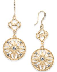 Charter Club - Gold-tone Crystal Double Drop Earrings, Created For Macy's - Lyst