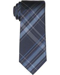 Calvin Klein Slim Spacious Plaid Tie - Blue