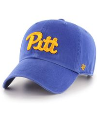 47 Brand Pittsburgh Panthers Clean Up Cap - Blue