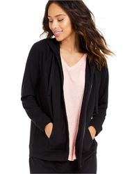 Style & Co. French Terry Hoodie, Created For Macy's - Black
