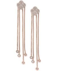 Effy Collection - Pavé Rose By Effy® Diamond Dangle Drop Earrings (1/3 Ct. T.w.) In 14k Rose Gold - Lyst
