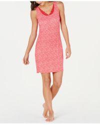 Sesoire Modal Print Short Gown - Pink