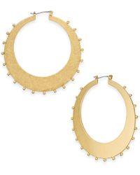 Kate Spade - Gold-tone Studded Hoop Earrings - Lyst